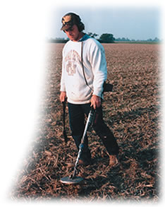 Imagine yourself metal detecting England farm fields