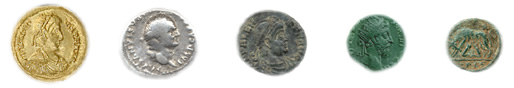 Roman coins were hand struck depicting the emperors and their accomplishments