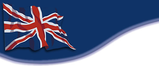 The flag of England and colors red white and blue welcome you to your personal guide page