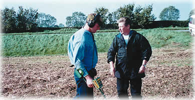 Mark has many metal detecting hints tips to share                     with you in the field.