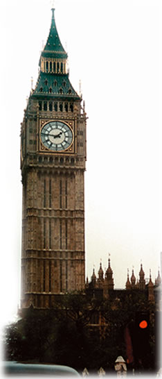 An English clock tower symbolizes timing your tour dates now
